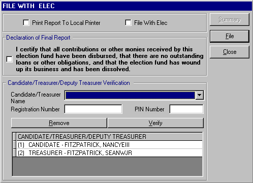 File with ELEC and Diskette Preparation